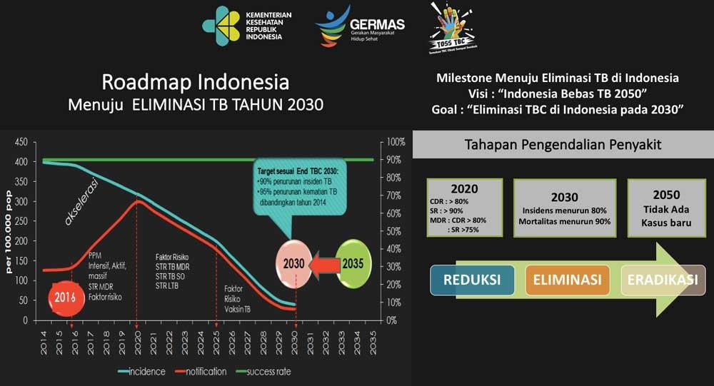 Roadmap Indonesia menuju eliminasi TB tahun 2030