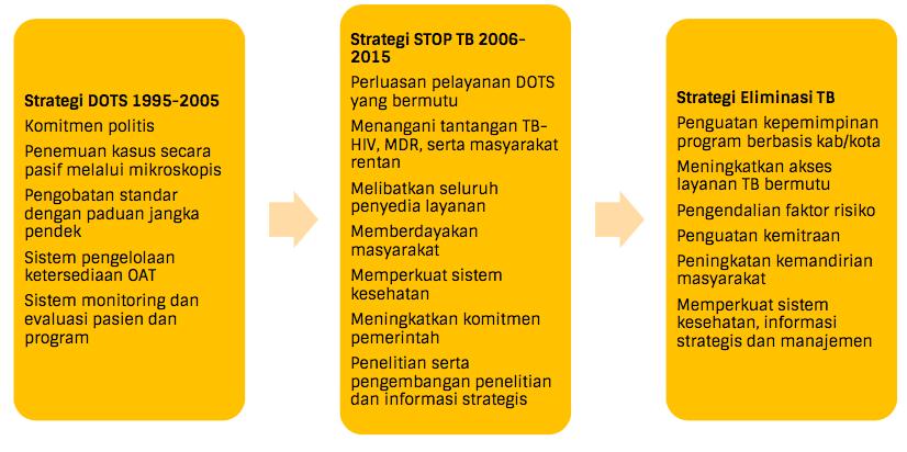 strategi penanggulangan TBC yang dikembangkan di Indonesia sejak tahun 1995